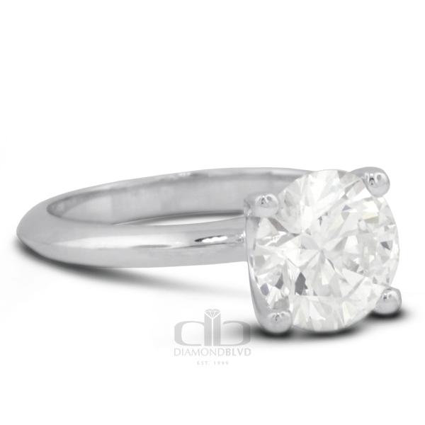 Diamond BLVD 1.55 Carat Total H-SI3 Ideal AGI Cert Round Natural Diamond 14K White Gold Classic Bridal Engagement Ring at Sears.com