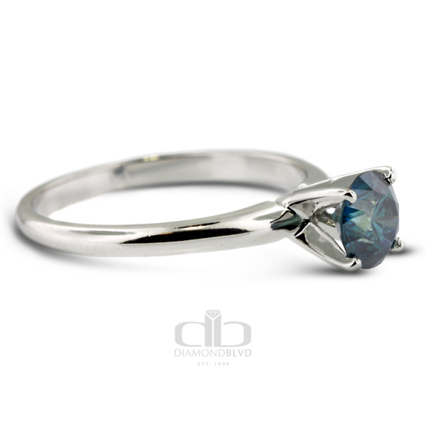 Diamond BLVD 0.74 Carat Total Blue-SI2 Excellent AGI Cert Round Natural Diamond 14K White Gold Classic Bridal Engagement Ring at Sears.com
