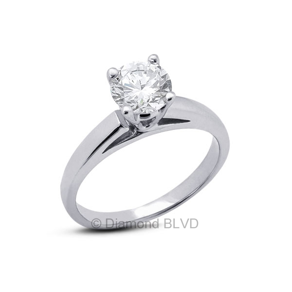 Diamond BLVD 0.73 Carat Total L-VS2 Excellent AGI Cert Princess Natural Diamond 18K Yellow Gold Cathedral Bridal Engagement Ring at Sears.com