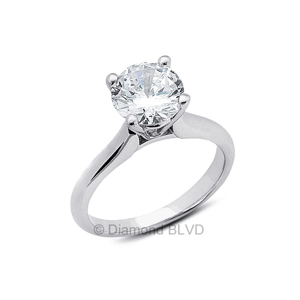 Diamond BLVD 1.88 Carat Total D-SI1 Excellent AGI Cert Round Natural Diamond 18K Yellow Gold Cathedral Bridal Engagement Ring at Sears.com