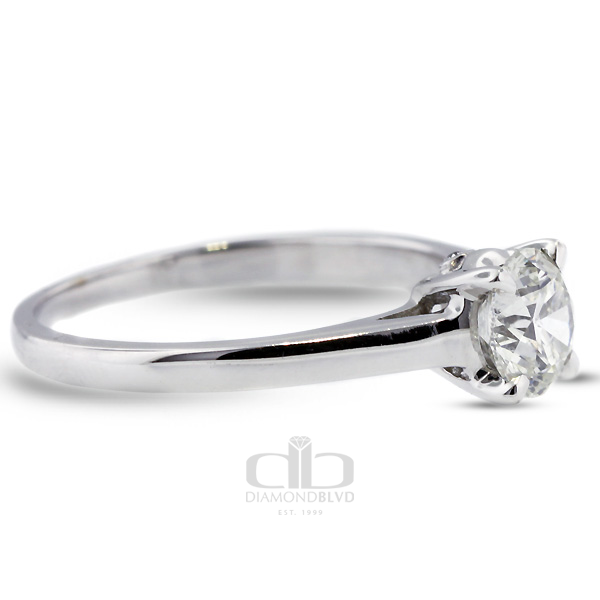 Diamond BLVD 1.05 Carat Total F-SI1 Excellent AGI Cert Round Natural Diamond 14K White Gold Basket Bridal Engagement Ring at Sears.com